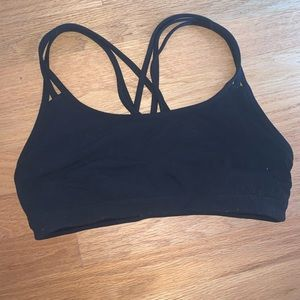 Athleta black cross-back sports bra